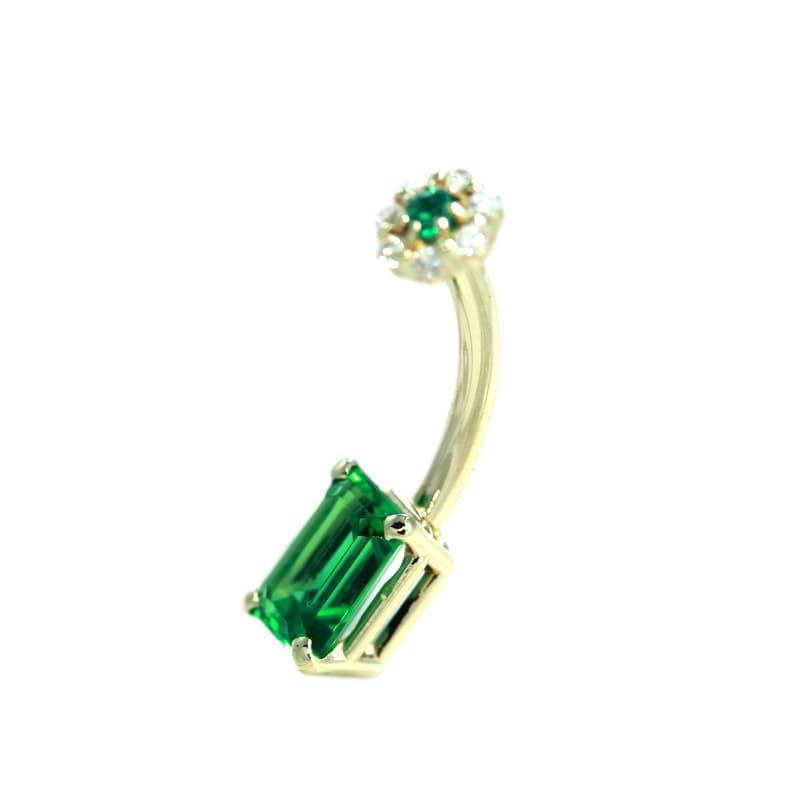 Navel-Emerald-Flower Side