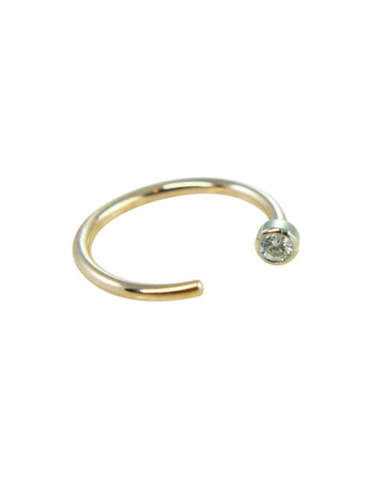 14K GOLD Lip Nail Bezel