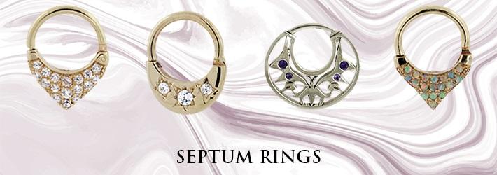 Hindged - Custom Gold Jewelry - Septum Rings